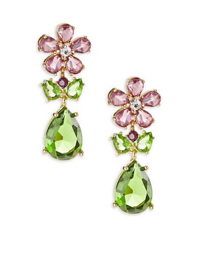 Kate Spade New York In Full Bloom Multi-Tone Cluster Drop Earrings-MULTI-One Size