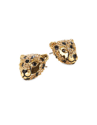 Kate Spade New York Crystal Cheetah Stud Earrings-ASSORTED-One Size