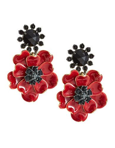 Kate Spade New York Poppy Drop Earrings-RED-One Size