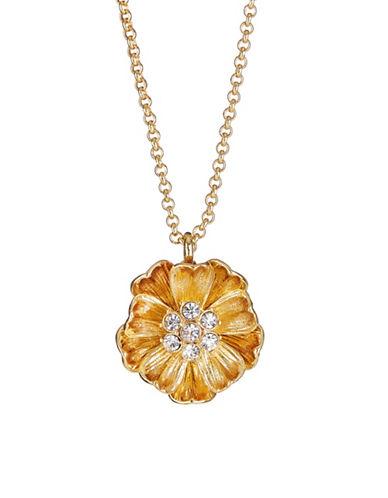 Kate Spade New York Goldtone Poppy Pendant Necklace-GOLD-One Size