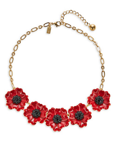 Kate Spade New York Precious Poppies Statement Necklace-RED-One Size