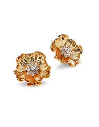 Kate Spade New York Goldtone Poppy Stud Earrings-GOLD-One Size