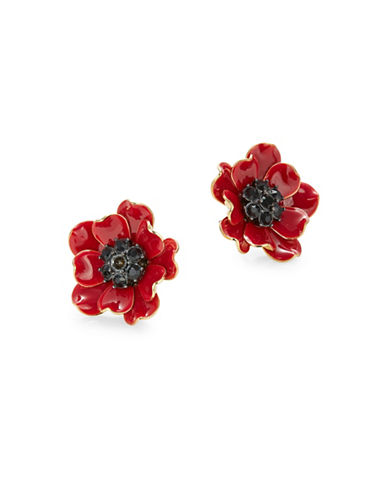 Kate Spade New York Poppy Red Stud Earrings-RED-One Size