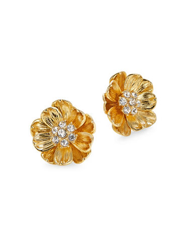 Kate Spade New York Goldtone Poppy Stud Earrings-GOLD-One Size