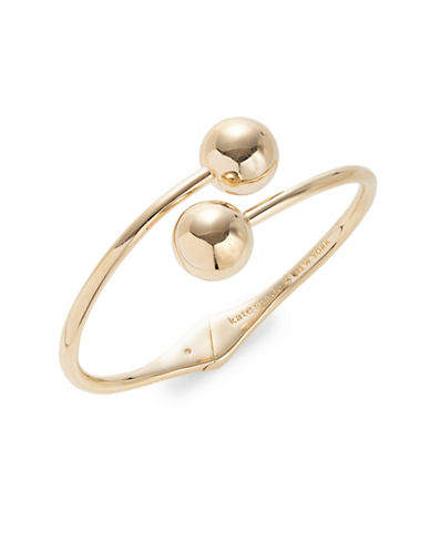 Kate Spade New York Golden Girl Goldplated Bauble Cuff-GOLD-One Size