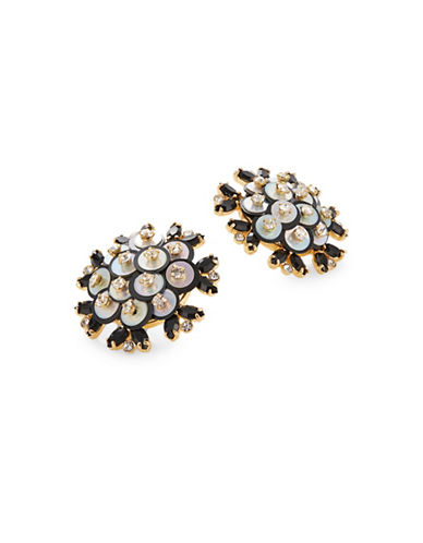 Kate Spade New York Crystal Be Bold Stud Earrings-BLACK-One Size