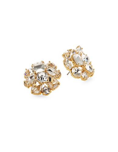 Kate Spade New York Crystal Cluster Faceted Stud Earrings-GOLD-One Size