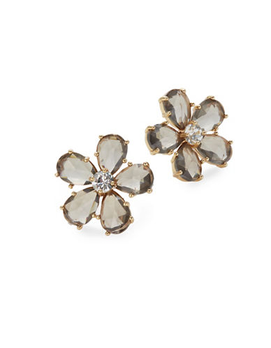 Kate Spade New York In Full Bloom Tonal Statement Stud Earrings-GREY-One Size