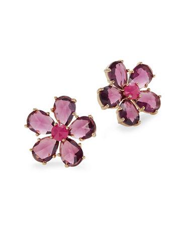 Kate Spade New York In Full Bloom Tonal Statement Stud Earrings-PURPLE-One Size