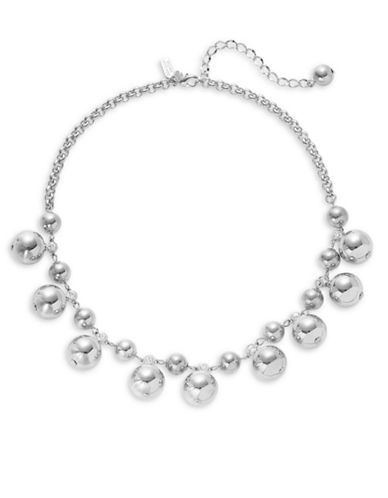 Kate Spade New York Golden Girl Silverplated Bauble Necklace-SILVER-One Size