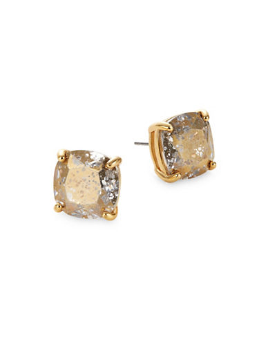 Kate Spade New York Crystal Small Square Stud Earrings-GOLD-One Size