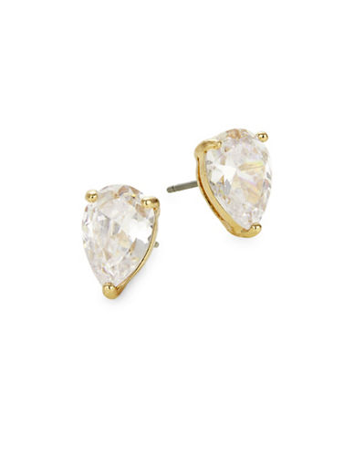 Kate Spade New York Crystal Tear Stud Earrings-GOLD-One Size