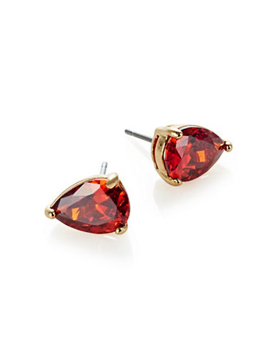 Kate Spade New York Shine On Crystal Stud Earrings-RED-One Size