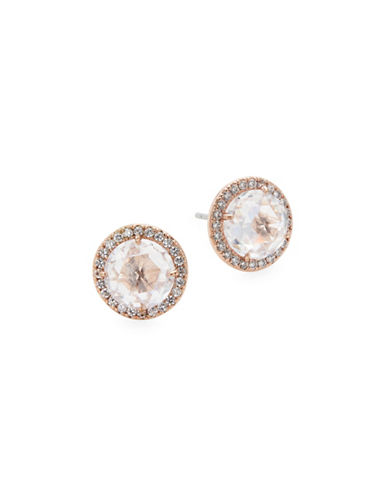 Kate Spade New York Rose Goldtone Pave Stud Earrings-ROSE GOLD-One Size