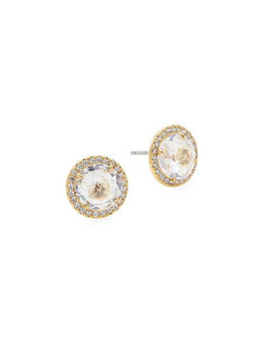 Kate Spade New York Pavé Crystal Halo Stud Earrings-GOLD-One Size
