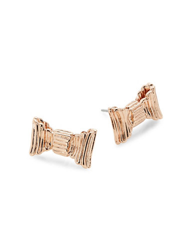 Kate Spade New York Bow Stud Earrings-ROSE GOLD-One Size
