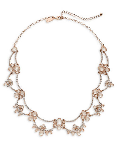 Kate Spade New York Crystal Cascading Statement Necklace-ROSE GOLD-One Size