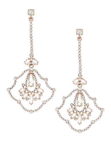 Kate Spade New York Crystal Linear Drop Earrings-ROSE GOLD-One Size