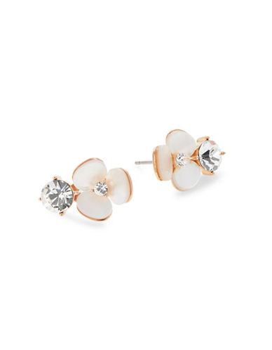 Kate Spade New York Crystal Cream Disco Stud Earrings-WHITE-One Size