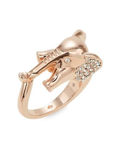 Kate Spade New York Crystal Elephant Statement Ring-PINK-7