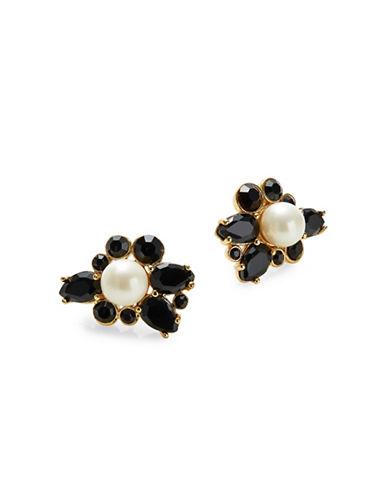 Kate Spade New York Black Crystal Cluster Stud Earrings-BLACK-One Size