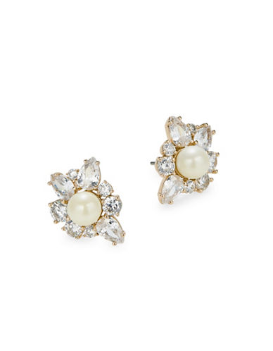Kate Spade New York Crystal Goldtone Cluster Stud Earrings-GOLD-One Size