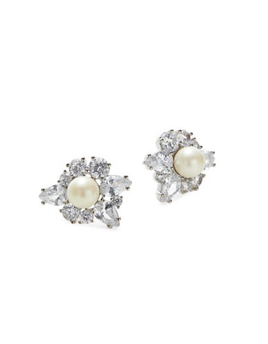 Kate Spade New York Crystal Silvertone Cluster Stud Earrings-SILVER-One Size