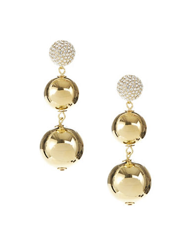 Kate Spade New York Pavé Crystal Bauble Earrings-GOLD-One Size