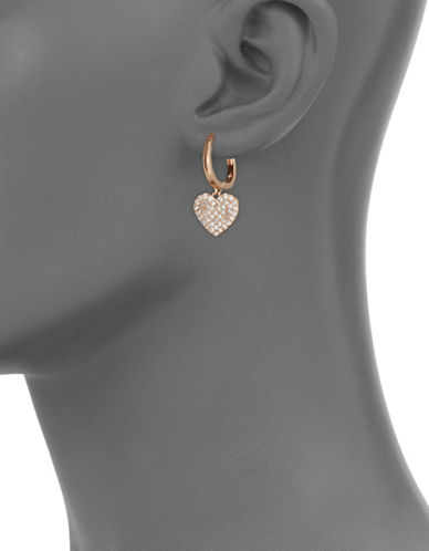Kate Spade New York Yours Truly Rose Gold Pave Heart Drop Earrings