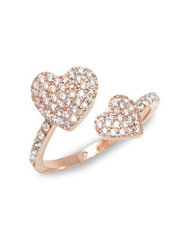 Kate Spade New York Yours Truly Pavé Crystal Heart Ring-ROSE GOLD-7