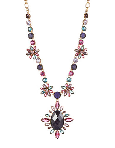 Kate Spade New York Night Sky Multicolour Crystal Floral Statement Necklace-ASSORTED-One Size