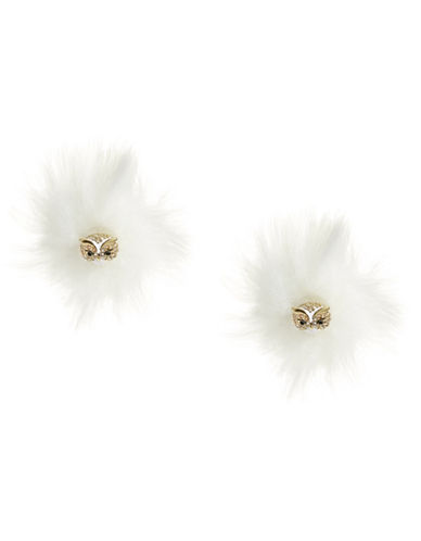 Kate Spade New York Crystal Owl Reversible Earrings-WHITE-One Size