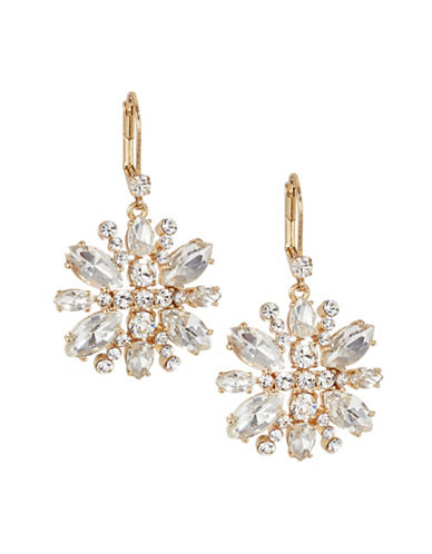 Kate Spade New York Crystal Snowflake Drop Earrings-GOLD-One Size