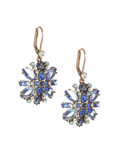 Kate Spade New York Crystal Snowflake Drop Earrings-BLUE-One Size