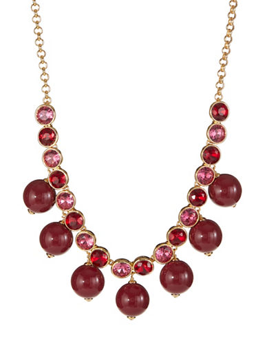 Kate Spade New York True Colours Crystal Statement Necklace-PINK-One Size