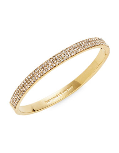 Kate Spade New York Pavé Crystal Row Bangle Bracelet-GOLD-One Size