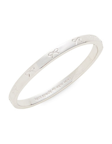 Kate Spade New York Bow Bangle Bracelet-SILVER-One Size