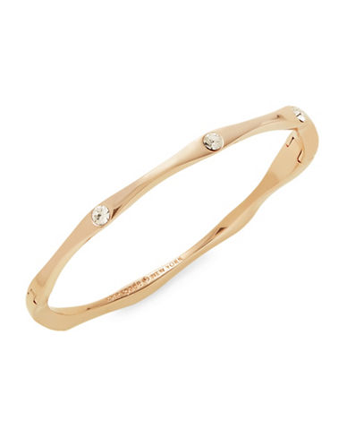 Kate Spade New York Crystal Goldtone Wave Bangle Bracelet-GOLD-One Size