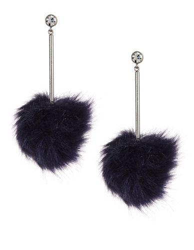 Kate Spade New York Navy Pouf Earrings-NAVY-One Size