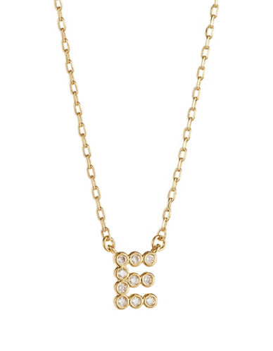 Kate Spade New York Stone E Pendant Necklace-GOLD-One Size