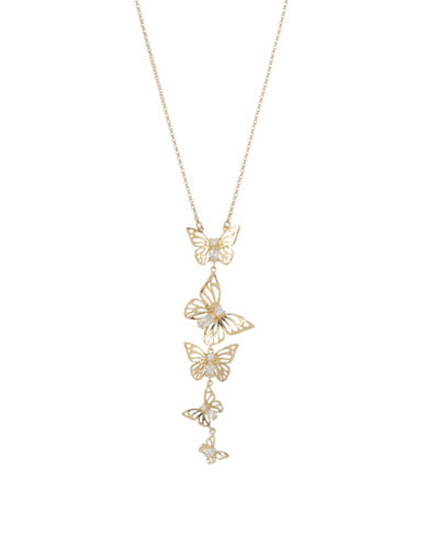 Accessories fashion jewellery crystal butterfly pendant kate spade new york crystal butterfly pendant necklace aloadofball Image collections
