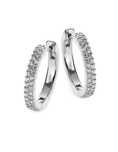 Kate Spade New York Pave Hug Hoop Earrings-SILVER-One Size