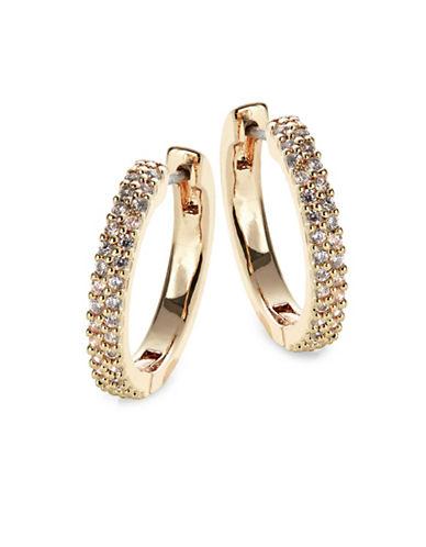 Kate Spade New York Pave Hug Hoop Earrings-GOLD-One Size