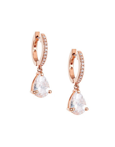 Kate Spade New York Crystal Tear Drop Earrings-ROSE GOLD-One Size