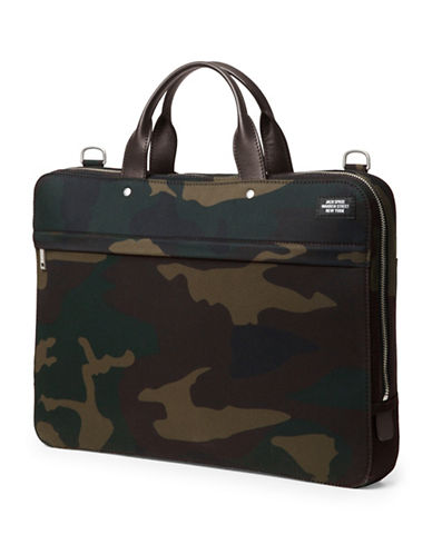 Jack Spade Waterproof Camo Slim Briefcase-CAMO-One Size