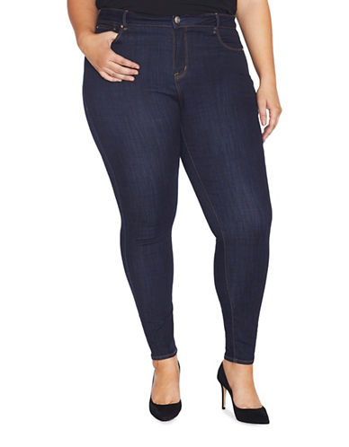 Rebel Wilson The Pin Up Mid-Rise Ultra Skinny Jeans-BLUE-24W