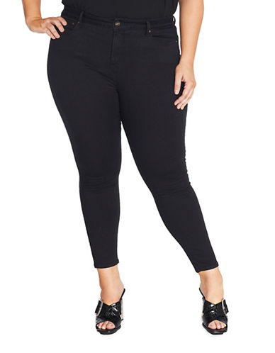 Rebel Wilson The Pin Up Mid-Rise Ultra Skinny Jeans-GREY-22W