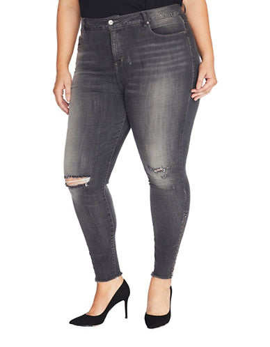Rebel Wilson The Icon Distressed Ankle Skinny Jeans-TOWER-22W