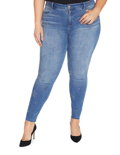 Rebel Wilson Super Skinny Jeans with Star Detail-WILSHIRE-24W