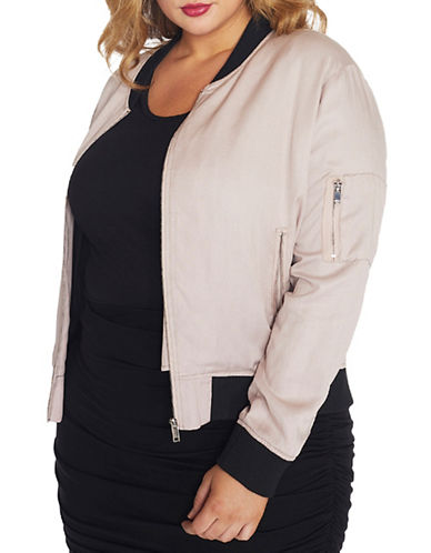 Rebel Wilson Soft Signature Bomber-LILAC-1X